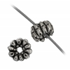 Beads Metalized Rigged Rondelle (Flat Round) 2.5x5mm Silver